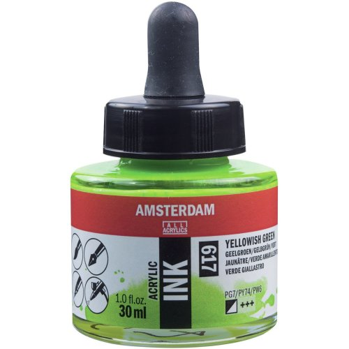 Amsterdam Acrylic Ink 30ml-Yellowish Green