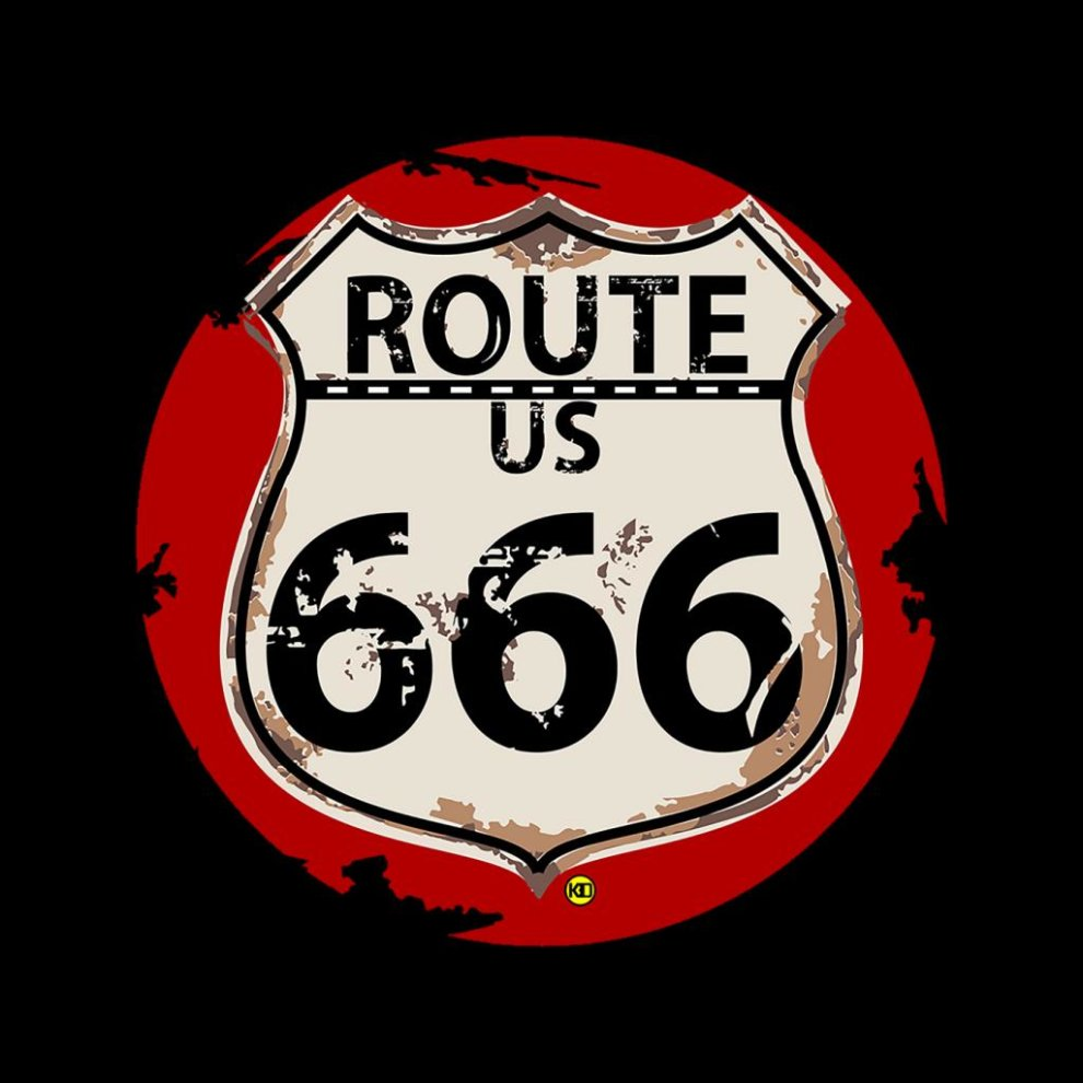 Route 666 Road Sign Kid's Varsity Jacket