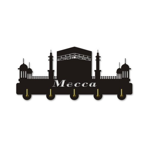 Mecca Cityscape Decorative Coat Wall Hook Saudi Arabia Meeca Theme Clothing Hanger Creative Hooks Modern Home Decor