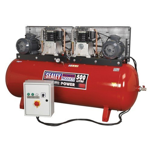 Sealey SAC4505555B Compressor 500ltr Belt Drive 2 x 5.5hp 3ph 2-Stage