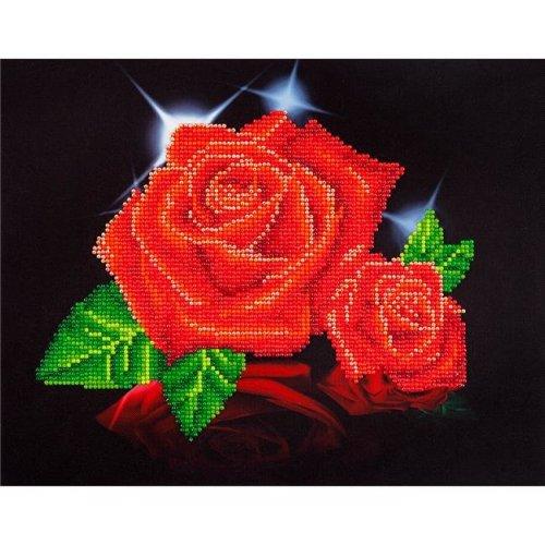 Needleart World DD5002 Diamond Dotz Diamond Embroidery Facet Art Kit - Red Rose Sparkle