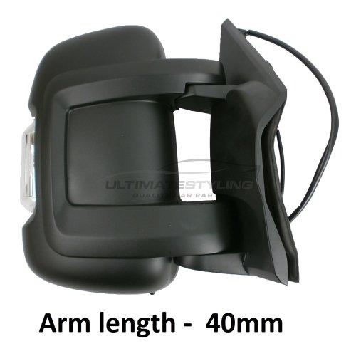 Citroen Relay 5/2014-> Electric Short Arm Door Wing Mirror With Temp Sensor O/S