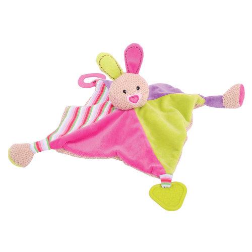 Bigjigs Toys Soft Plush Bella Comforter - Security Blanket, Bedtime Cuddle Toy