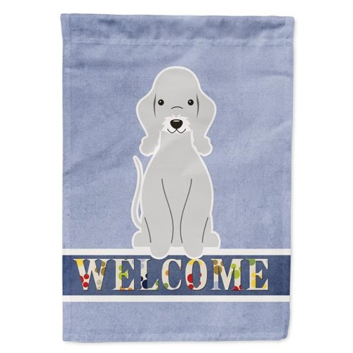 Carolines Treasures BB5671CHF Bedlington Terrier Blue Welcome Flag Canvas House Size