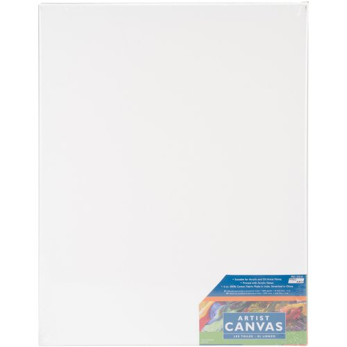 """Pro Art Stretched Artist Canvas Twin Pack 2/Pkg-16""""X20"""""""