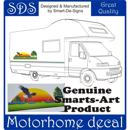MOTORHOME VINYL GRAPHIC STICKER DECALS CAMPER VAN RV CARAVAN 70cmx26cm