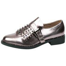 Dani Womens Low Heel Studded Fringe Loafers
