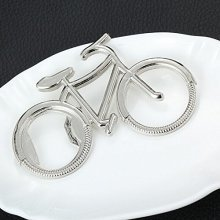 Silver Metal Bicycle Bike Shaped Beer Bottle Opener Gift For Cyclist