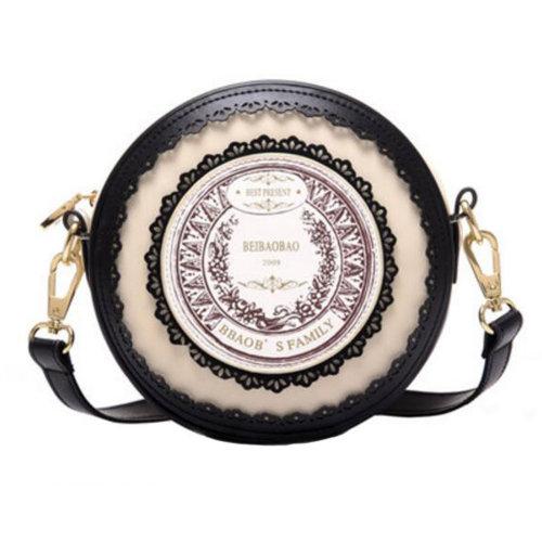 Elegant Purse Bag Single Shoulder Strap Bag friend Kids Birthday Gift Leisure Cute Small Bag, Black