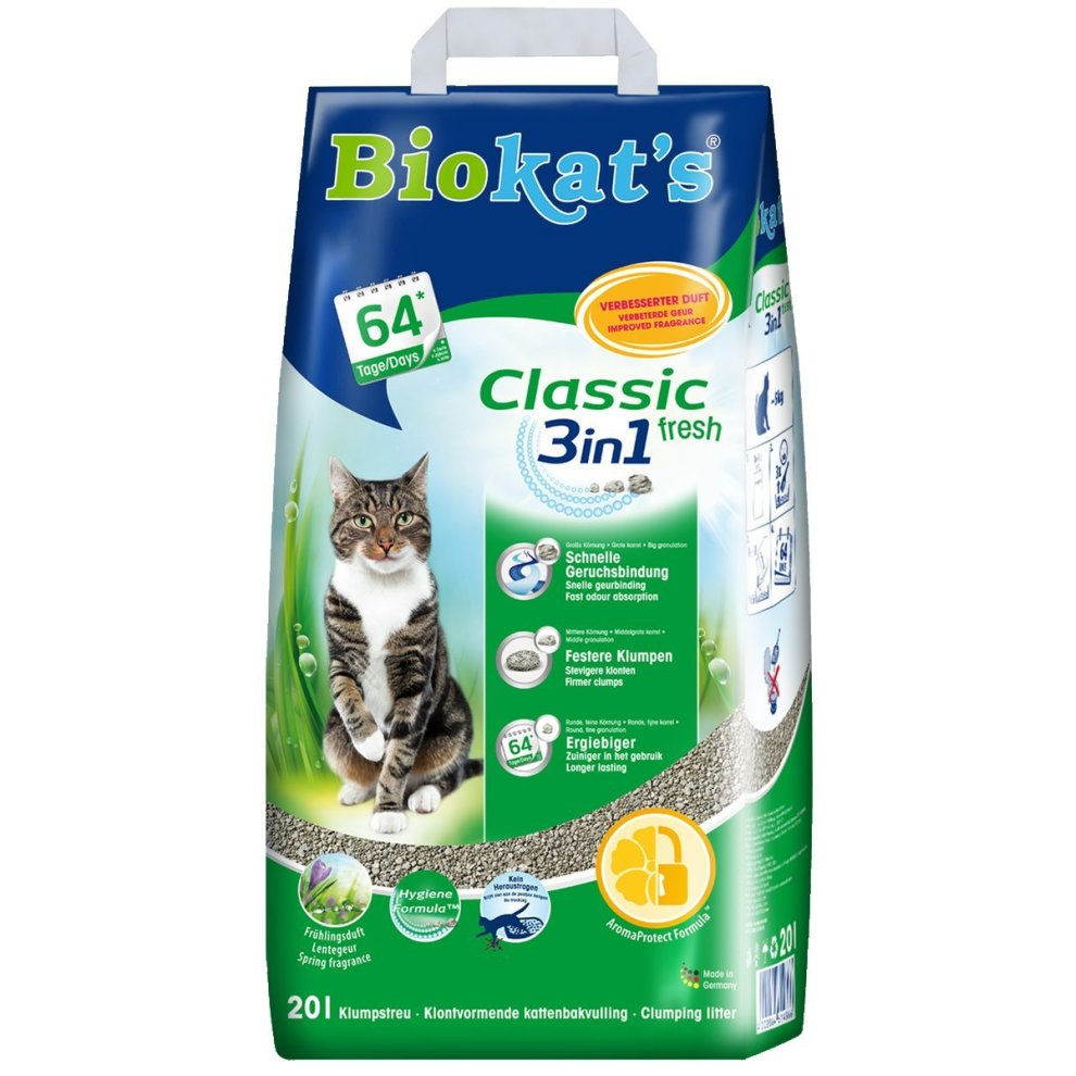 Biokat's Classic Fresh 3in1 Cat Litter / Absorbent Odour Binding Clumping Litter