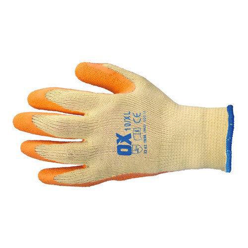 OX S241608 Latex Grab and Grip Glove Size 8 Medium
