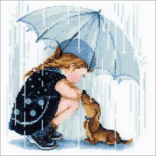 """Riolis Funny Rabbits Counted Cross Stitch Kit NEW High Quality 15.75/"""" x 9.75/"""""""