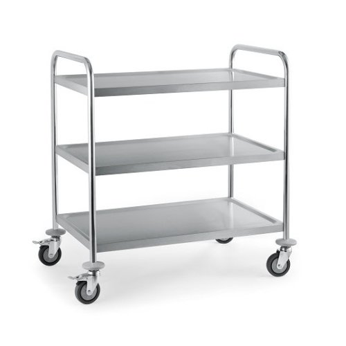 3 Tier Stainless Steel Serving & Catering Trolley