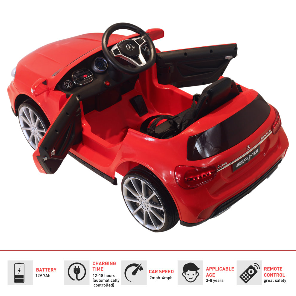 8c32ed66ff4 ... HOMCOM Mercedes Benz Licensed Kids Children Ride On Car 6V Battery  Rechargeable Headlight Music Remote Control ...