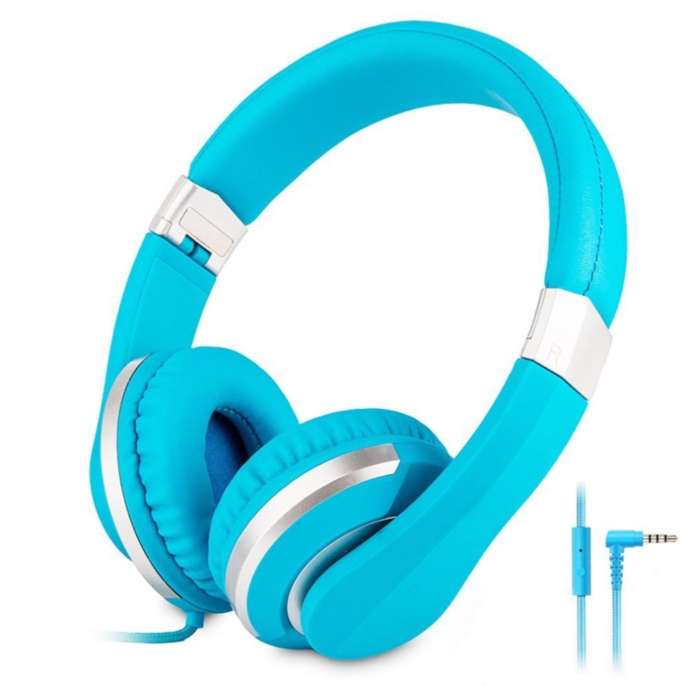 404e9cda500 Reetec Wired Stereo Foldable On-ear Headphones with Microphone Heavy Bass  Lightweight Headsets for Cellphones iPhone Laptop Tablet Mp4 Mp3 (Blue) on  OnBuy