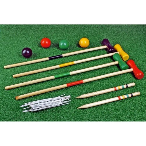 Childs 4 Player Wooden Croquet Set