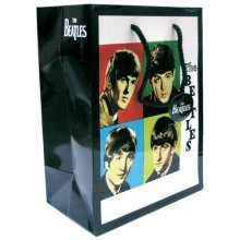 Beatles - Gift Bag Early Years - New x Official Black 17cm H 23cm D 10cm 22cm -  beatles new gift bag x early years official black 17cm h 23cm d 10cm
