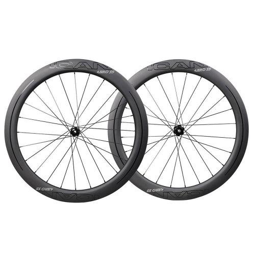 ICAN AERO 55 Disc DT Hub CenterLock Carbon Wheels