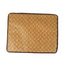 Natual Soft Pet Dog Bed Mat Bamboo Fiber Mat Random Pattern , 48*38cm