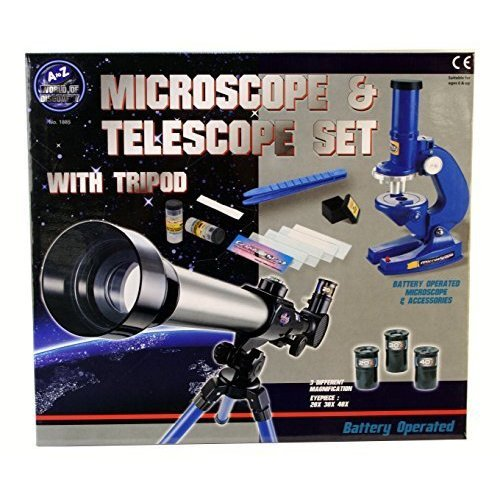 A To Z 01885 Microscope And Telescope Set With Tripod -
