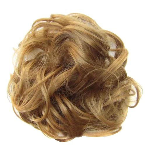 Messy Fake Hair Bun, Curly Fake Hair, Updo Hair, Easy to Wear [G]