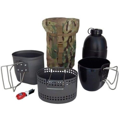 BCB CN014A Crusader Mk II Cooking System 6 Piece Set Multicam Pouch