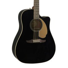 Fender Redondo Player Electro-Acoustic Guitar, Jetty Black