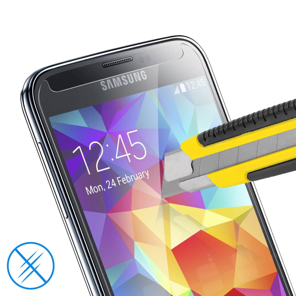 Tempered Glass crystal clear screen protector for Samsung Galaxy S5