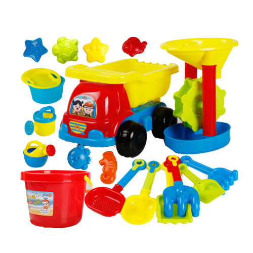 19 Piece Beach sand Toy Set, Bucket, Shovels, Rakes,Perfect for Holding Childrens' Toys#A