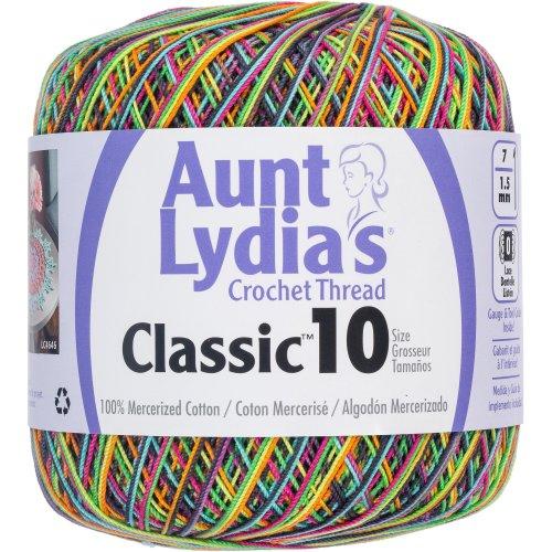 Aunt Lydia's Classic Crochet Thread Size 10-Blacklight
