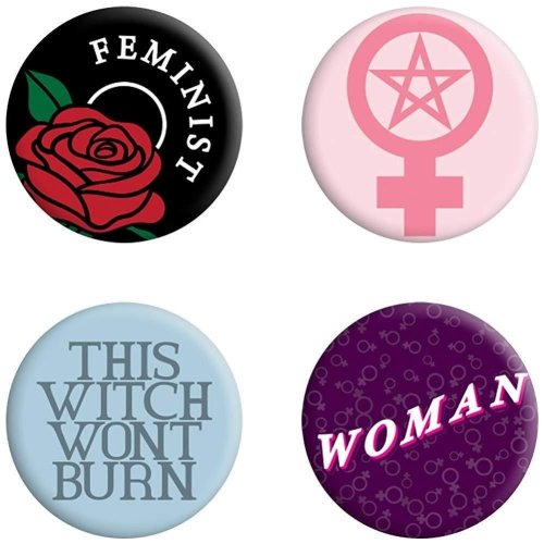 Grindstore This Witch Won't Burn Feminist Badge Pack