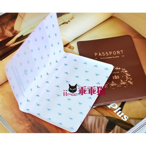 Coffee Pink PU Leather Passport Cover