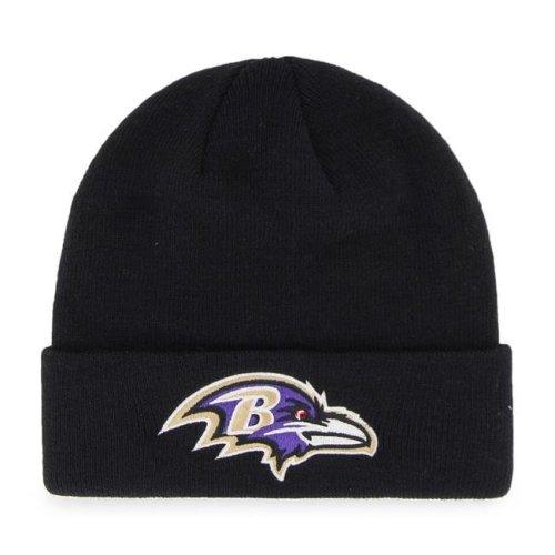 8638e6e0d Fan Favorites F-MKN03ACE-BK NFL Baltimore Ravens Mass Cuff Knit Cap, Black  - One Size