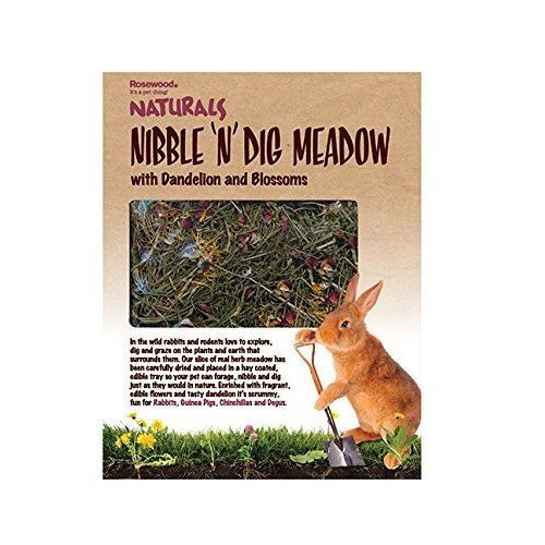 Rosewood Naturals Nibble 'n' Dig Meadow with Dandelion and Blossoms for Small Animals