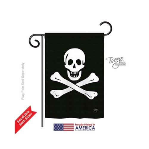 Breeze Decor 57032 Pirate Black Sam 2-Sided Impression Garden Flag - 13 x 18.5 in.