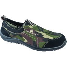 Delta Plus Miami Mens Camoflague Camo Canvas Slip On Steel Toe Safety Trainers