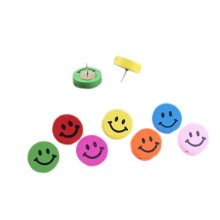 Creative Woodiness Colorful Smile Face Pushpins/30 Piece/Random Color