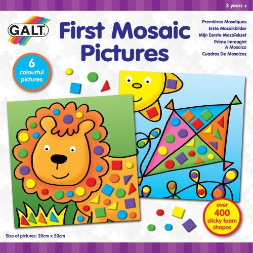 First Moasaic Pictures Craft Kit - Galt Toys Mosaic Picture -  galt toys first mosaic picture
