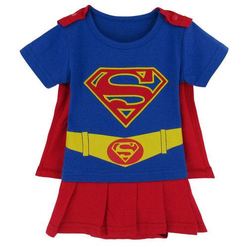 Supergirl-inspired Baby Infant Superhero Dress