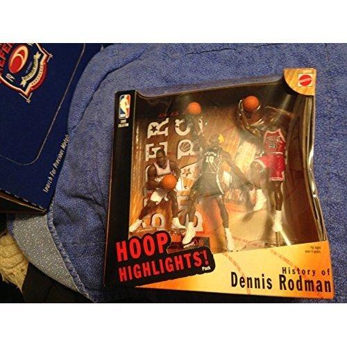 1999 NBA Super Stars Figure - Special Edition History of Dennis Rodman 3-Figure Pack