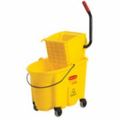 7580-21-YEL 0.74 Quart, Sideward Yellow Mop Bucket & Wringer