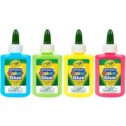 Crayola Washable Color Glue 3Oz-Multicolor 12/Pkg