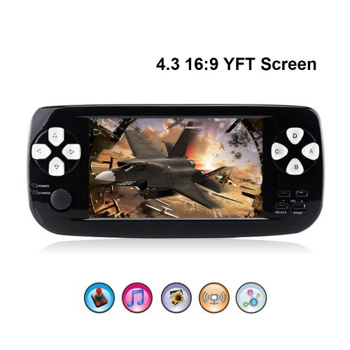 "Rongyuxuan Handheld Game Console Portable Video Game 4.3"" TFT Screen 4GB PAP Classic Handheld Game Console 64 Bit Portable Game Console with 653..."