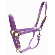 Hamilton 1-Inch Nylon Halter with Adjustable Chin, Lavender - Large Size
