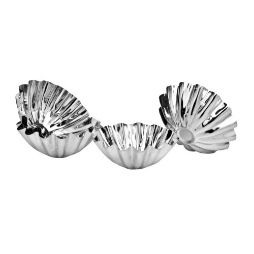 Set Of 4 Brioche/Cake Moulds, Tinplate