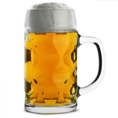 German Beer Stein 500ml | Beer Tankard, Glass Stein, Isar Stein, Handled Beer Mug, Classic Beer Tankard