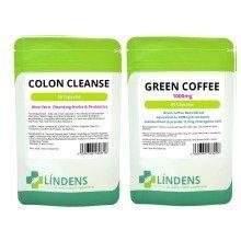 60 Green Coffee Bean Extract 1000mg & 60 Detox Colon Cleanse Diet Slim Pills Fat