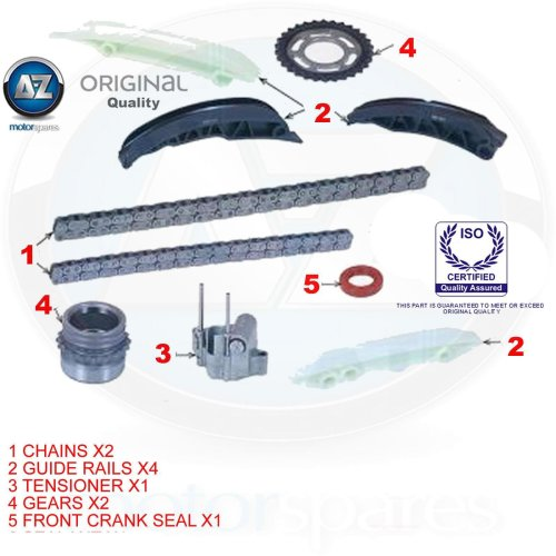 FOR BMW 1 3 5 6 7 X3 X5 X6 SERIES 2.0 2.5 3.0 DIESEL TIMING CHAIN KIT 2003-> ON