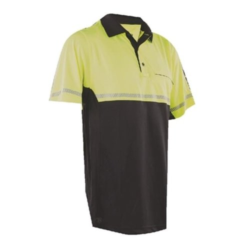 Tru-Spec TSP-4324005 24-7 Bike Performance Polo Shirt with Reflective Tape, Hi-Vis Yellow - Large