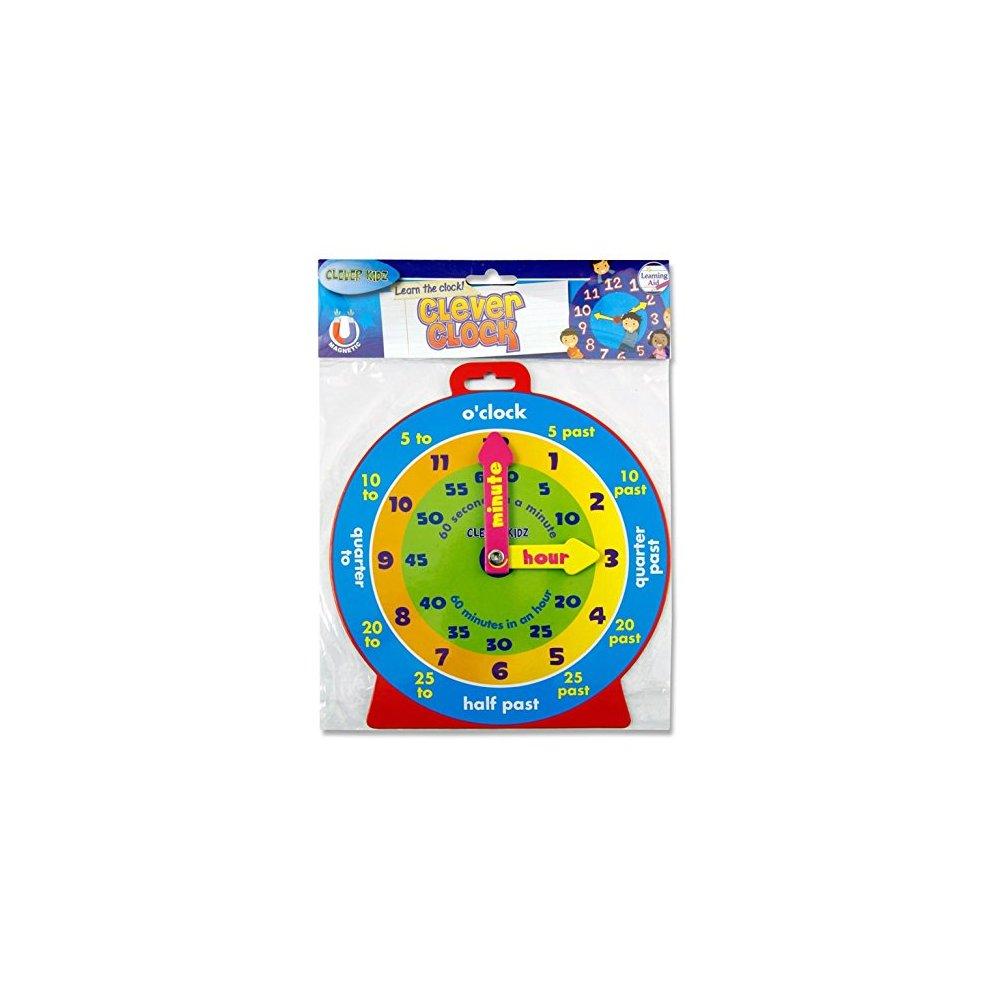 Premier Stationery 54992 Clever Kids Magnetic Clock